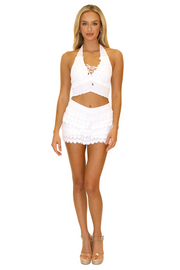 NW1087 - White Cotton Skort