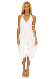 NW1019 - White Cotton Dress