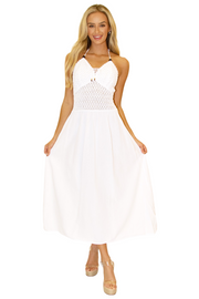 NW1024 - White Cotton Dress