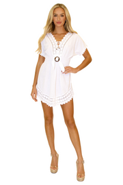 NW1025 - White Cotton Dress