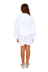 BN1005 - White Cotton Long Sleeve Hoodie