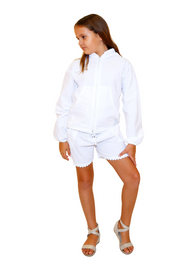 G1008 - White Cotton Shorts
