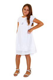 G1003 - White Cotton Dress