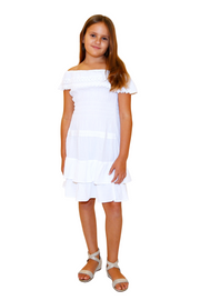 G1005 - White Cotton Dress