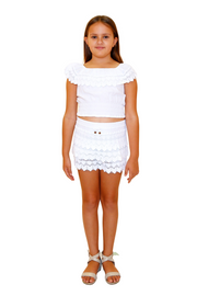 G1006 - White Cotton Skirt