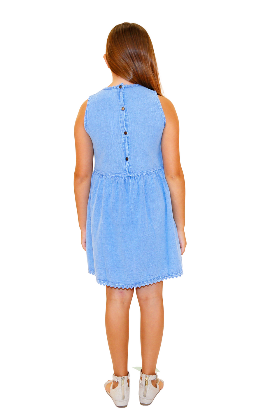 G1110 - Blue Cotton Dress