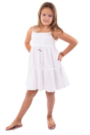 G1111 - White Cotton Dress