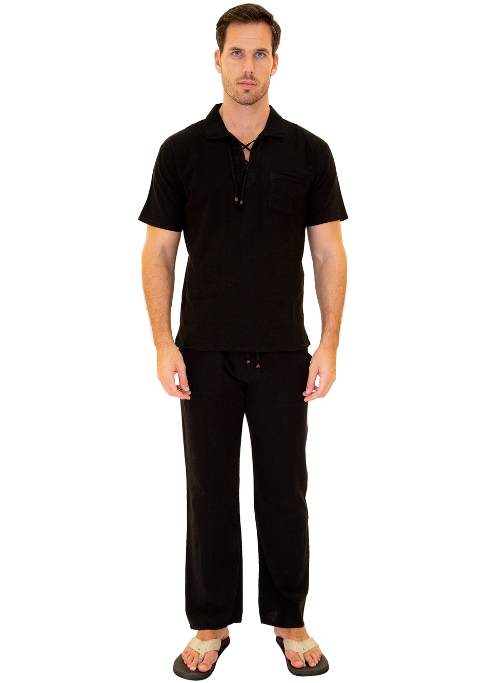 GZ1010 - Black Cotton Pants