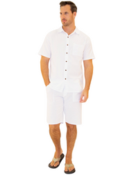 GZ1007 - White Cotton Button Down Pocket Shirt
