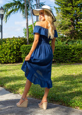 NW1083 - Navy Cotton Dress
