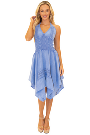 NW1019 - Blue Cotton Dress