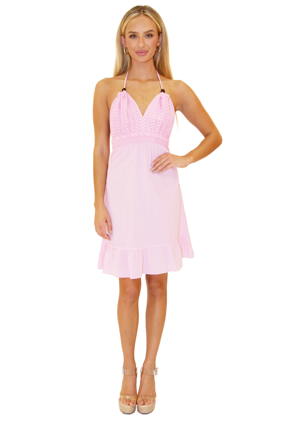 NW1020 - Pink Cotton Dress