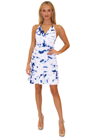 NW1020 - Tie Dye Blue Cotton Dress