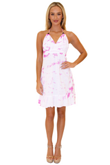 NW1020 - Tie Dye Pink Cotton Dress