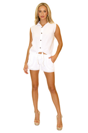 NW1029 - White Cotton Shorts