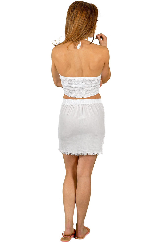 NW1156 - White Cotton Skirt