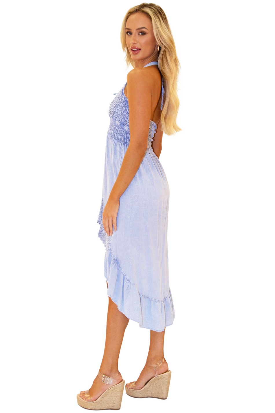 NW1050 - Blue Cotton Dress