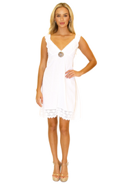 NW1055 - White Cotton Dress