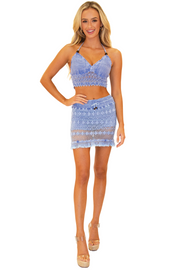 NW1177 - Blue Cotton Skort