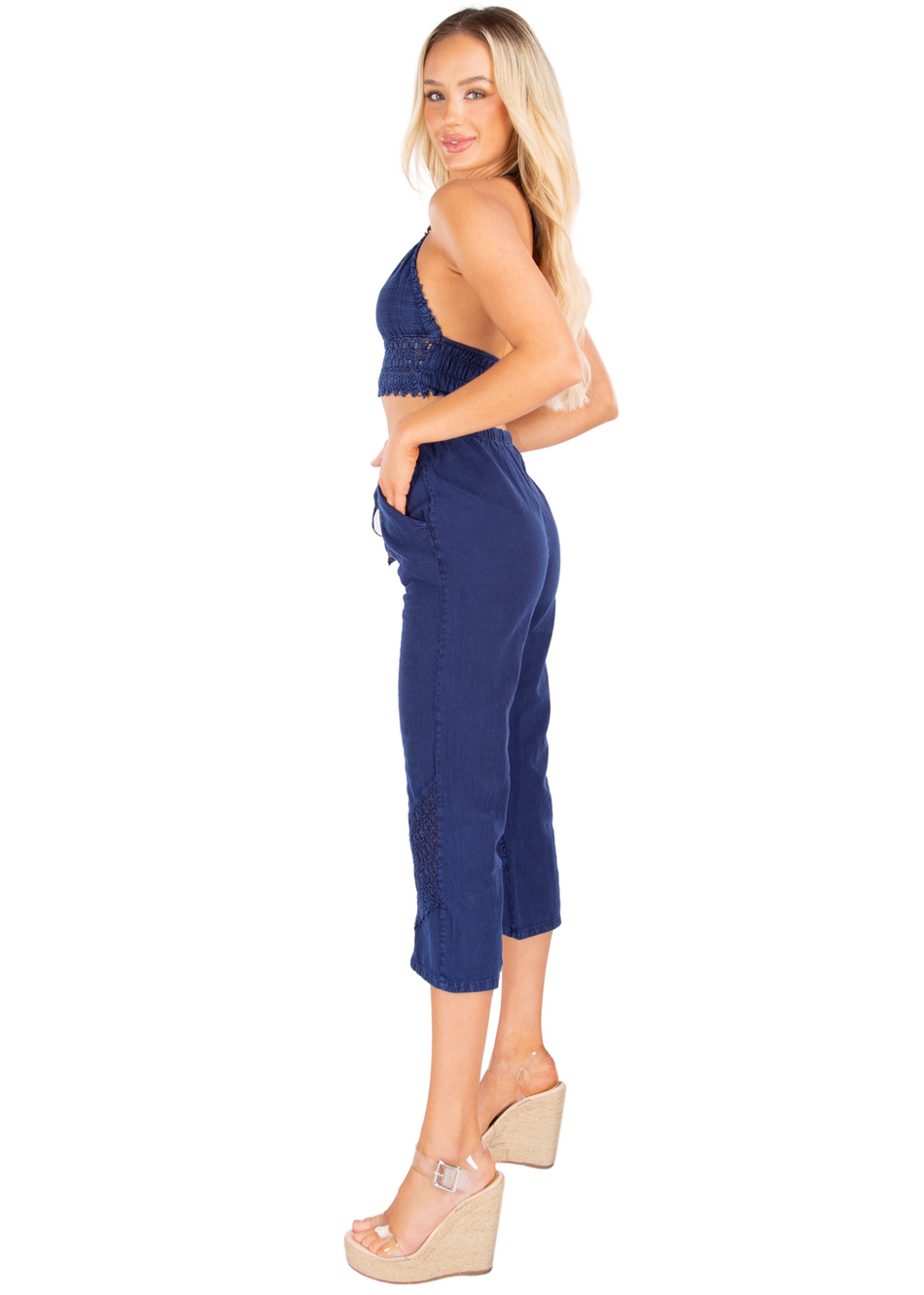 NW1274 - Navy Cotton Pants