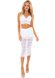 NW1135 - White Cotton Skirt