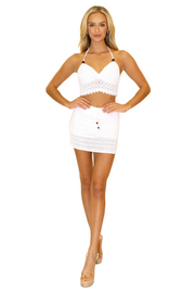 NW1178 - White Cotton Skirt