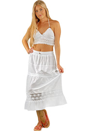 NW1032 - White Cotton Skirt - seaspiceresort.com