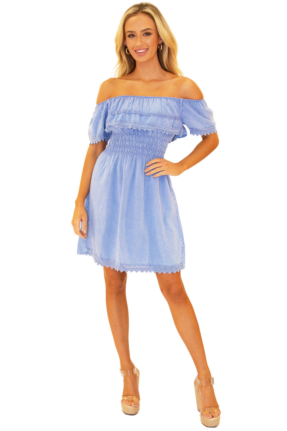 NW1066 - Blue Cotton Dress