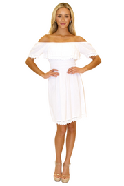 NW1066 - White Cotton Dress