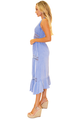 NW1068 - Blue Cotton Dress