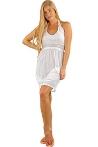 NW1070 - White Cotton Dress - seaspiceresort.com