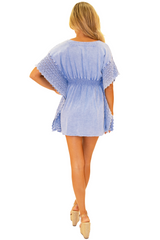 NW1073 - Blue Cotton Cover-Up
