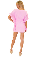 NW1073 - Pink Cotton Dress