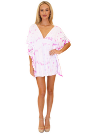 NW1073 - Tie Dye Pink Cotton Cover-Up