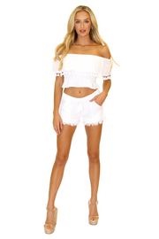 NW1075 - White Cotton Shorts