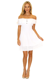 NW1078 - White Cotton Dress
