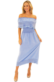 NW1079 - Blue Cotton Dress