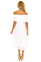NW1079 - White Cotton Dress