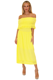 NW1079 - Yellow Cotton Dress