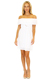 NW1082 - White Cotton Dress