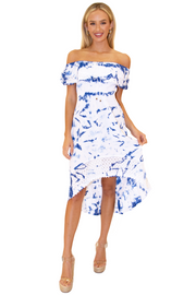 NW1083 - Tie Dye Blue Cotton Dress