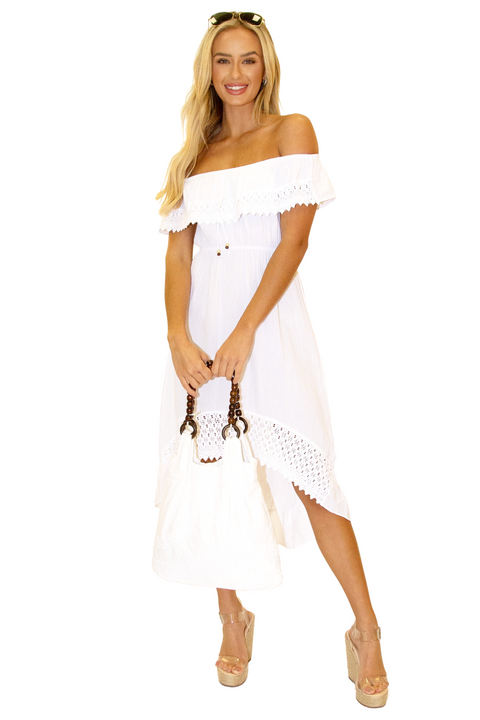 NW1083 - White Cotton Dress