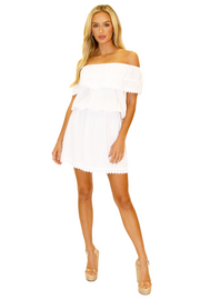 NW1084 - White Cotton Dress