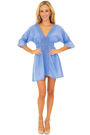 NW1085 - Blue Cotton Dress