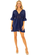 NW1085 - Navy Cotton Dress
