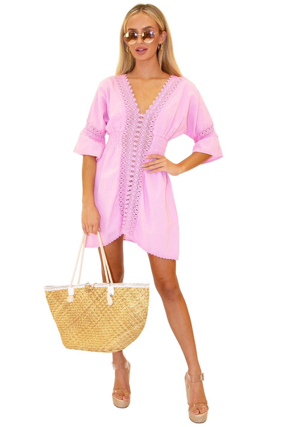 NW1085 - Pink Cotton Dress