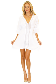 NW1085 - White Cotton Dress