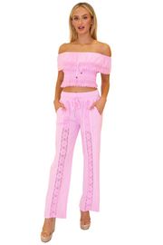 NW1175 - Pink Cotton Pants