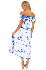 NW1149 - Tie Dye Blue Cotton Skirt