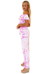 NW1091 - Tie Dye Pink Cotton Top